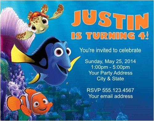 finding dory invitations ideas