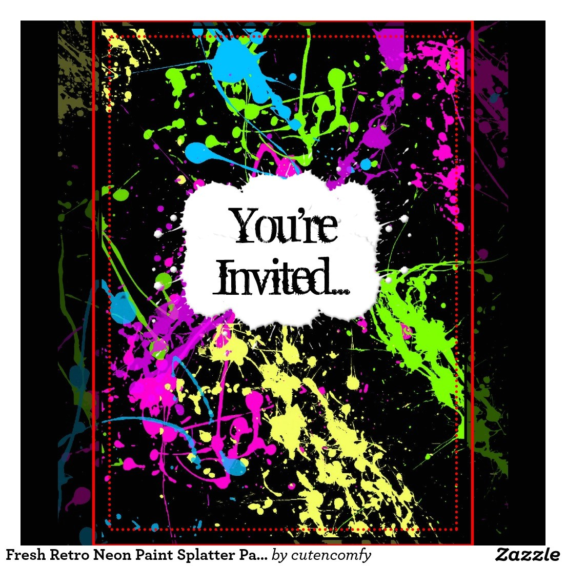 very best neon party invitations design free download