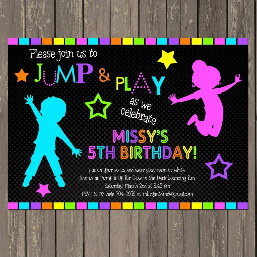 amazing neon party invitations
