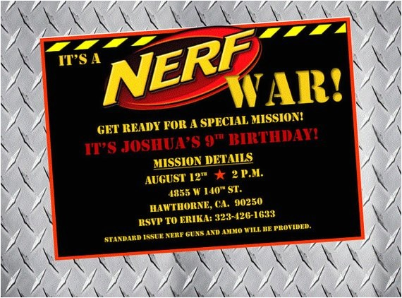 nerf party invitations nerf birthday