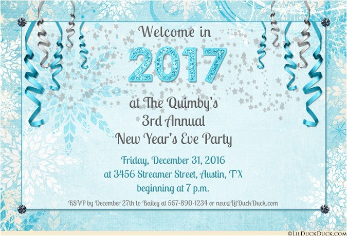 new year party invitation card 2018