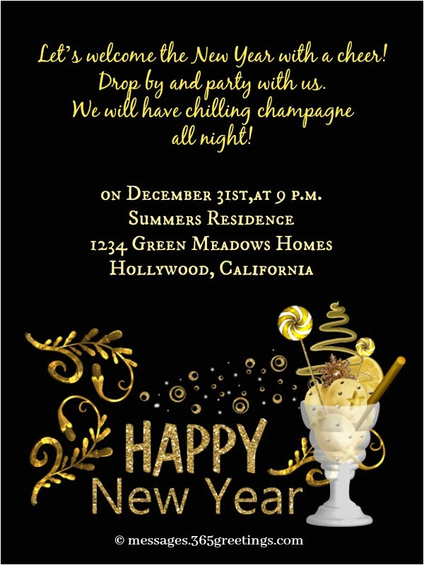 new year party invitation wording 2