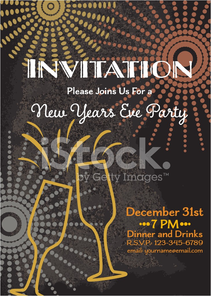 new year s eve party invitation template 1345812