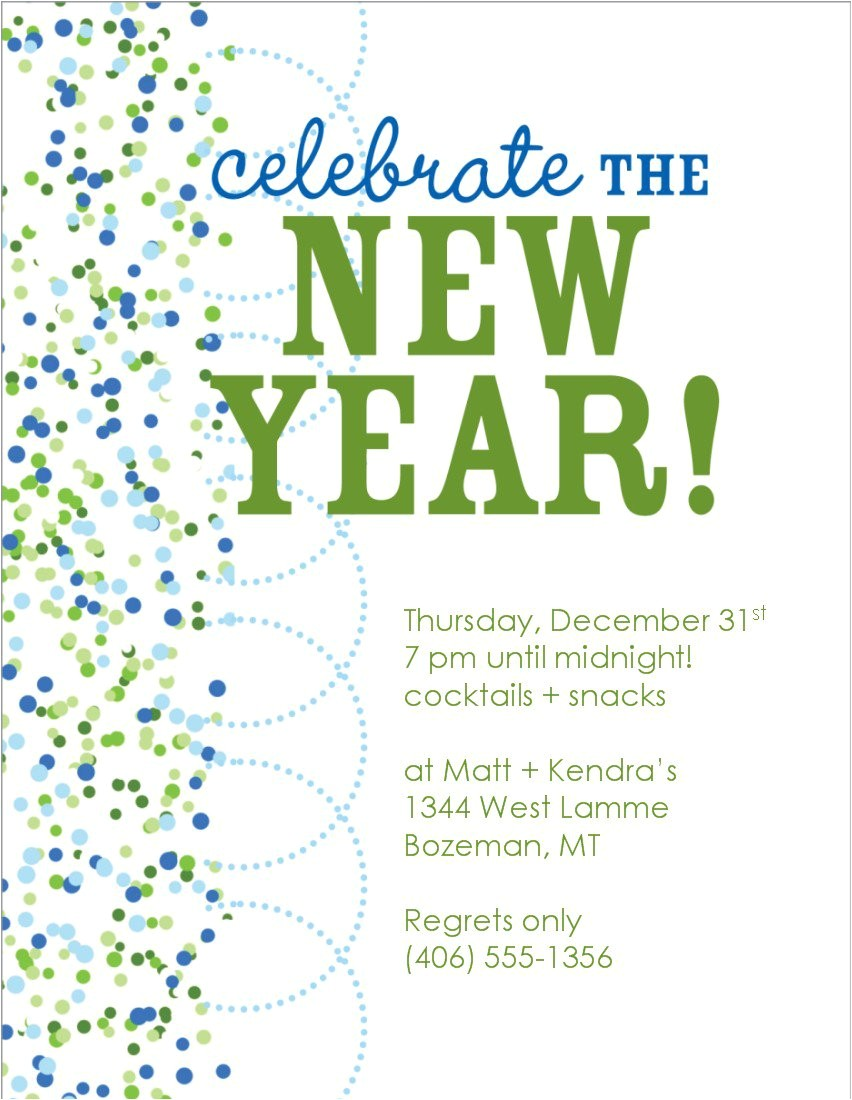 new year eve invitation templates free 2