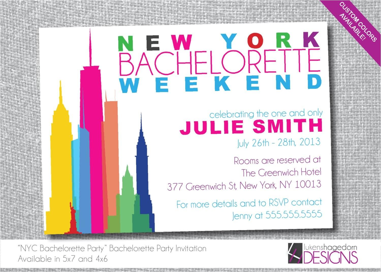 new york bachelorette party invitation