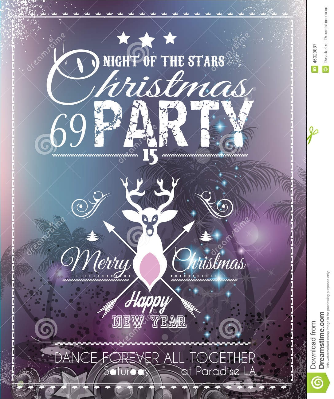 stock illustration christmas party flyer club disco events ideal musical themed posters invitation covers new year s eve discotheque image46029887
