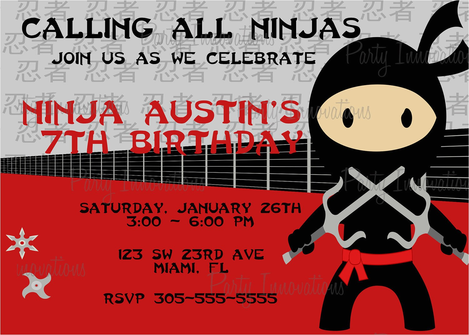 Ninja Birthday Party Invitation Template Free Free Printable Ninjago Birthday Invitation Free