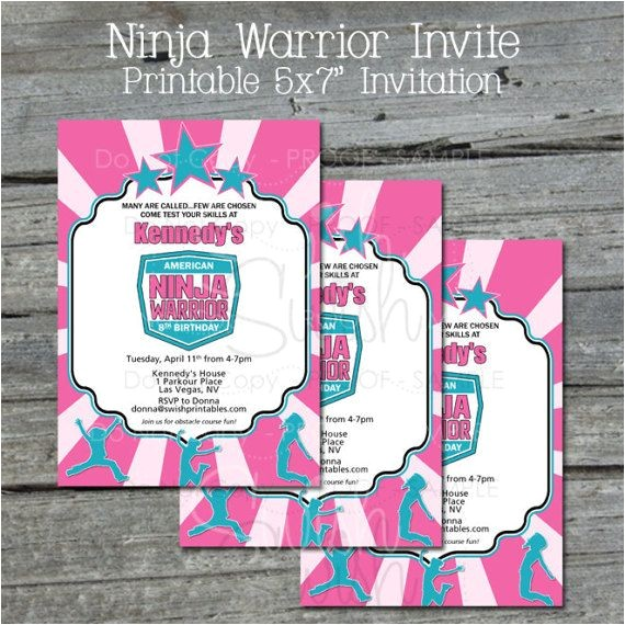 american ninja warrior party ideas