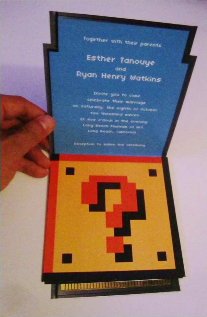 super mario bros wedding invitation