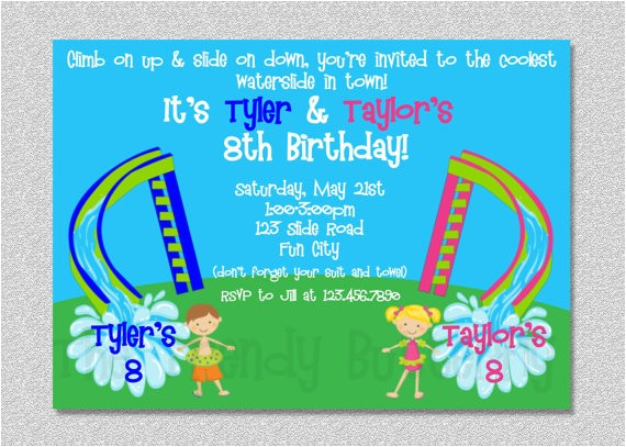 obstacle course birthday party invitations