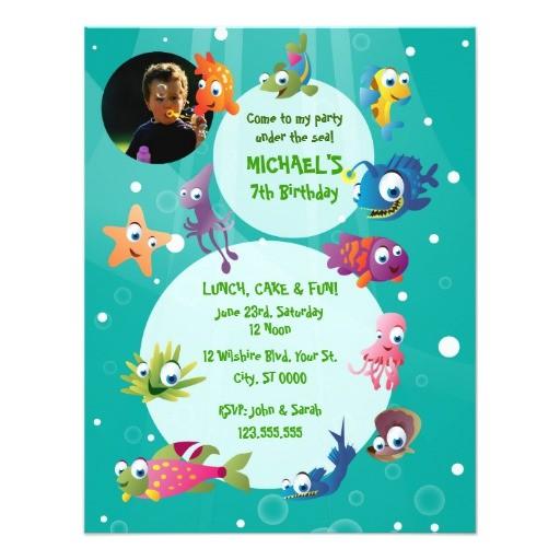 ocean theme childrens birthday party invitation 161351765524870619