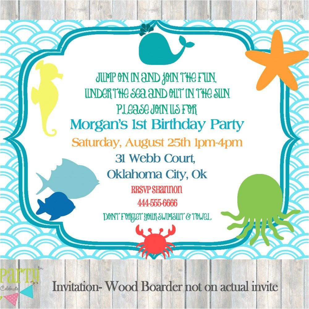 under the sea invitations birthday
