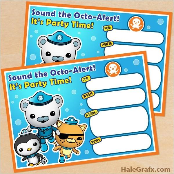 free octonauts party printables 2
