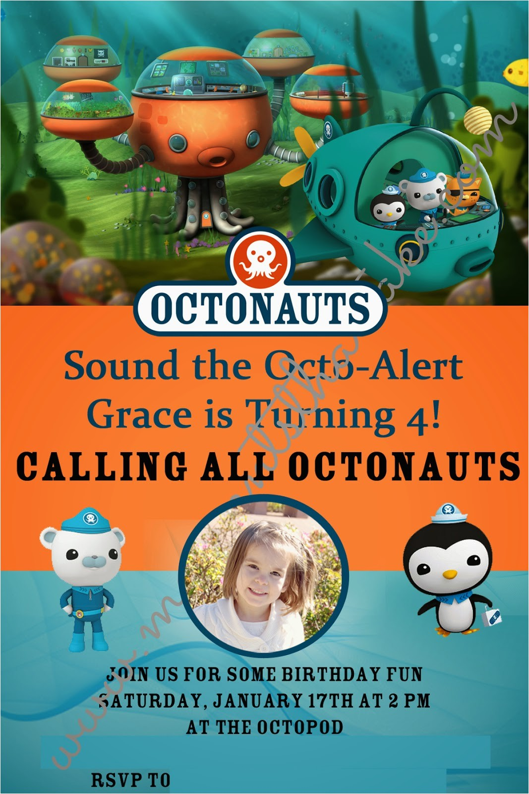 graces 4th birthday octonauts party