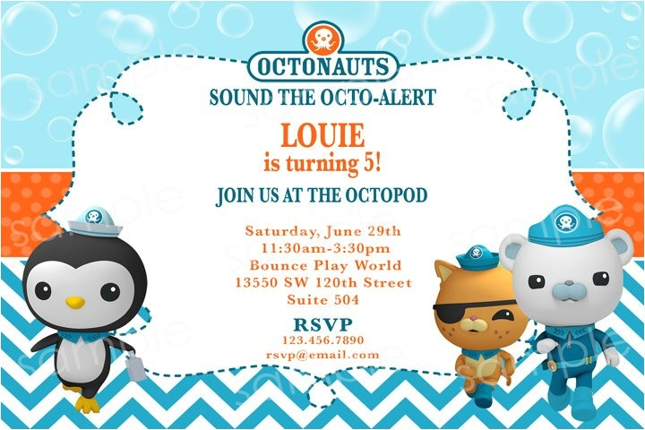 octonauts birthday invitation diy