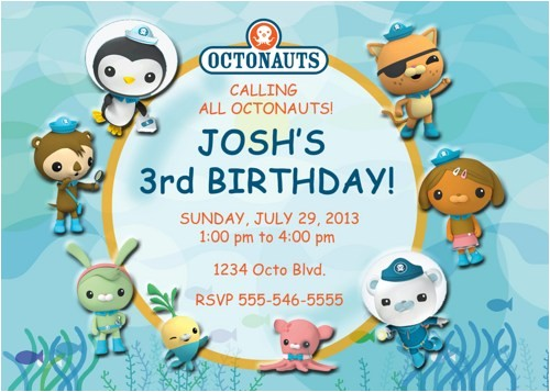 octonauts birthday party invitations