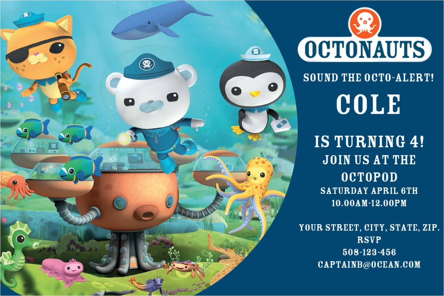 octonauts digital birthday invitation