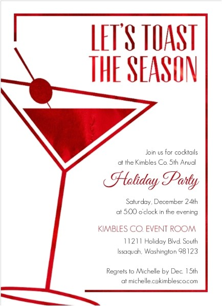 office holiday party invitation wording