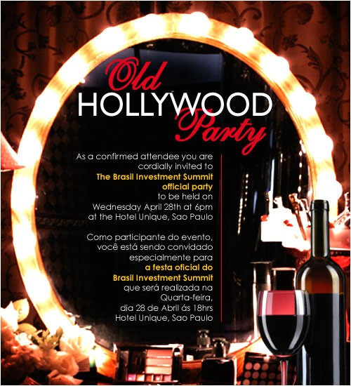 Old Hollywood Party Invitations Old Hollywood Party Invitations Oxsvitation Com