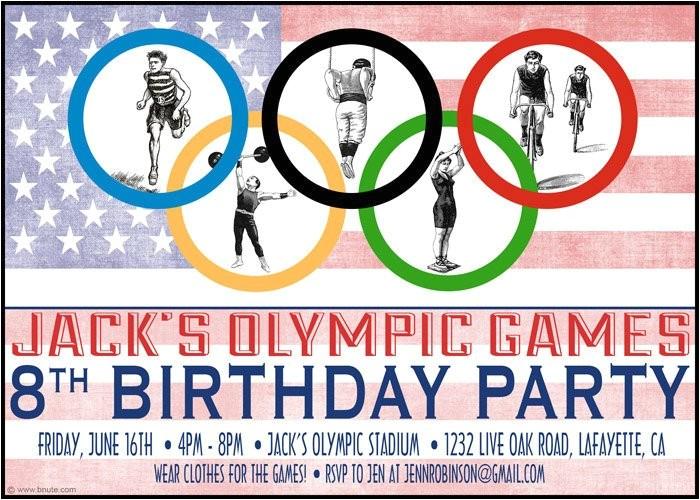 summer olympics party invitations