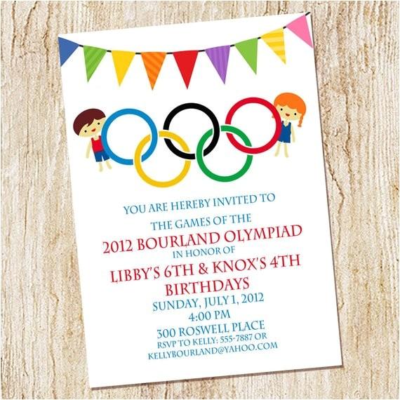 olympic party invitation olympics