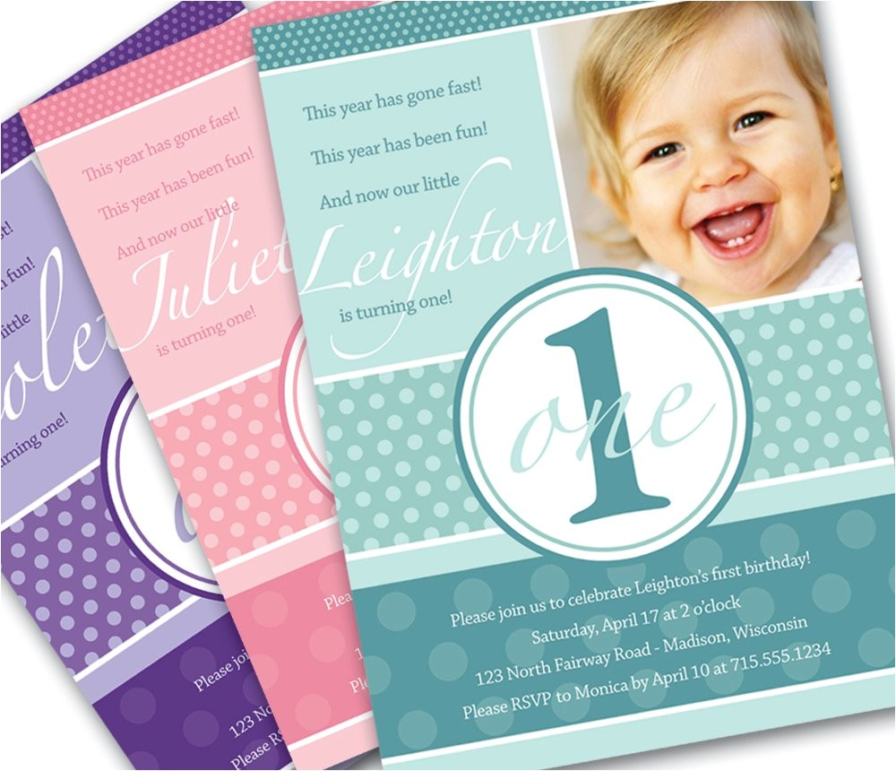 1 year old birthday invitations