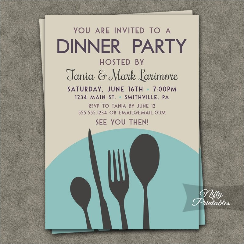 dinner party invitations printable
