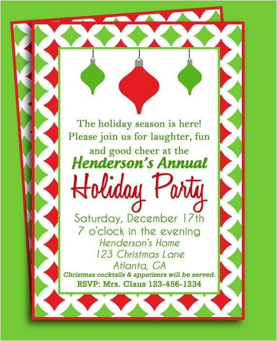 christmas party invitation printable holiday delight
