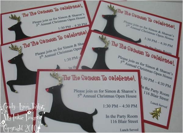 christmas party invitations order free