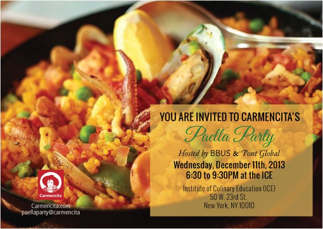 bisila bokoko 26 pont global to host a cocktail style paella party for carmencita in new york
