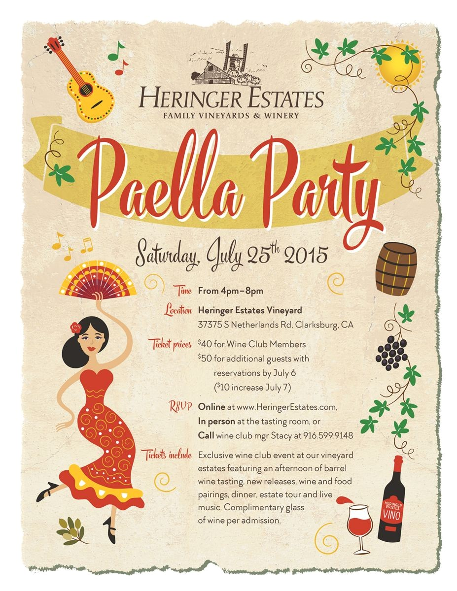 paella party invitation