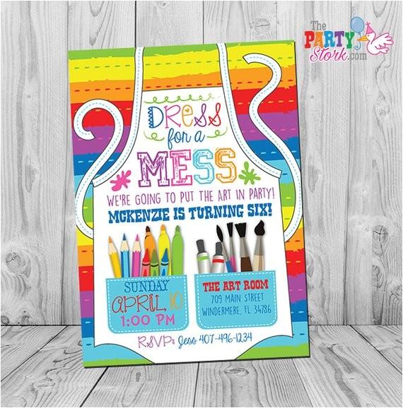 art party invitation art party art