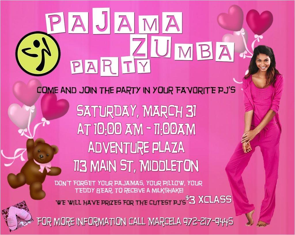 adult pajama party invitation