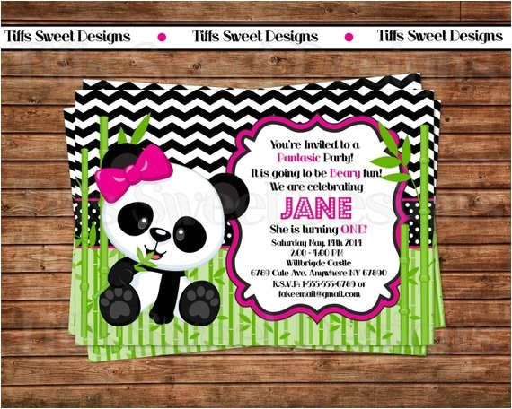 panda bear invitation panda invitation