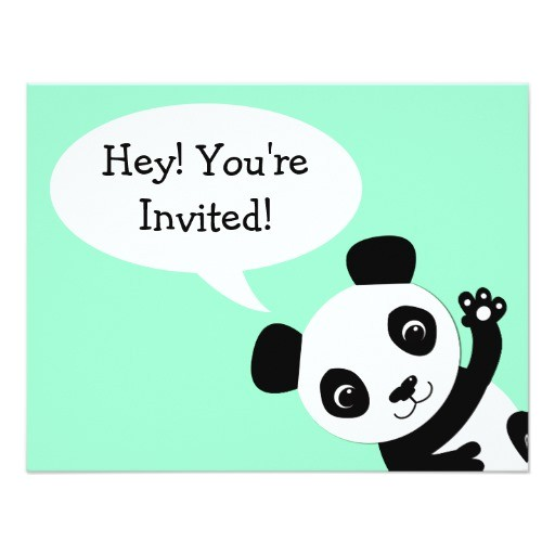 simple panda bear birthday invitation 161400447349881236