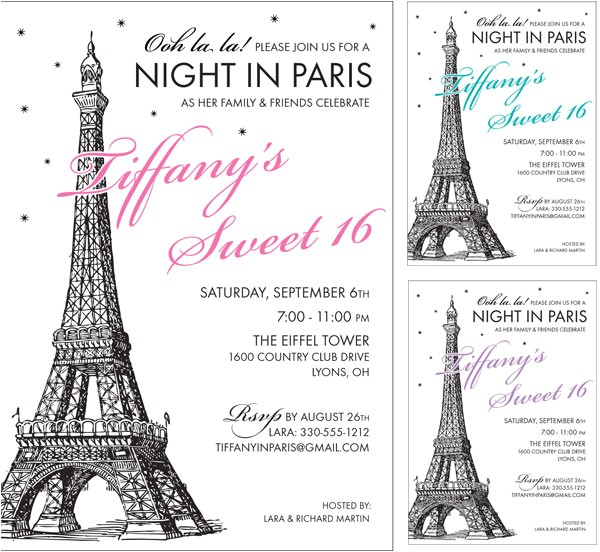 paris party invitation 430849