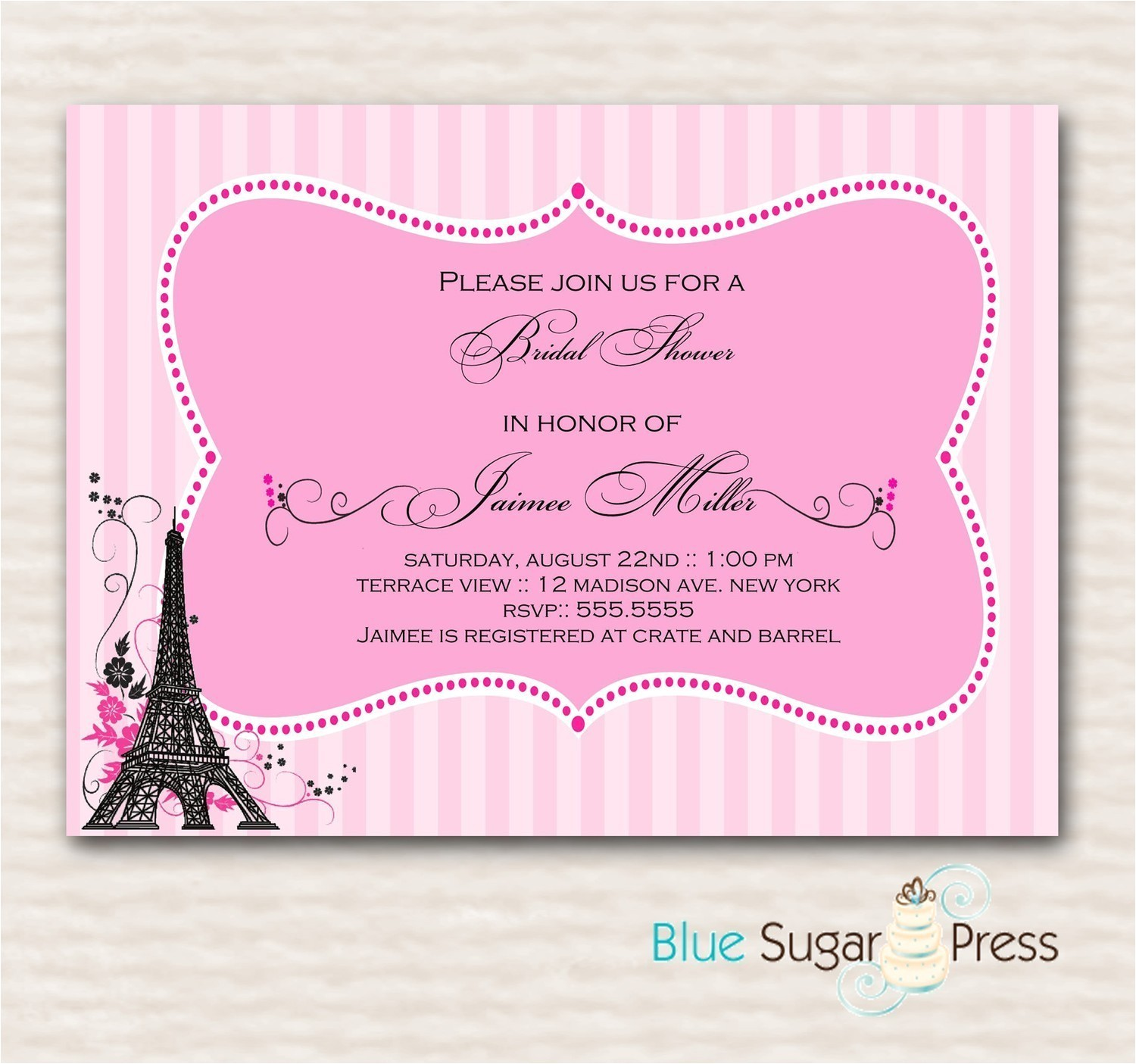 paris themed birthday party invitation wording