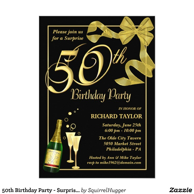 50th birthday party surprise party invitations 161836162593654762