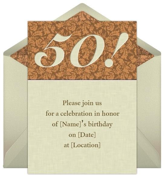 50th birthday invitation wording sample ideas