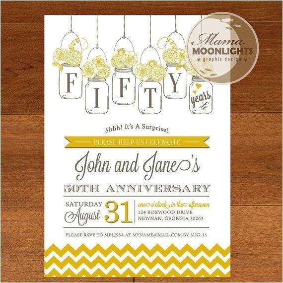 surprise 50th wedding anniversary invitations 080428437