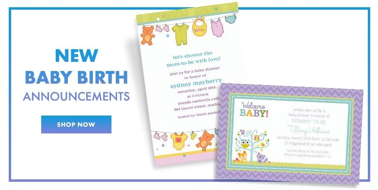 custom invitations baby shower