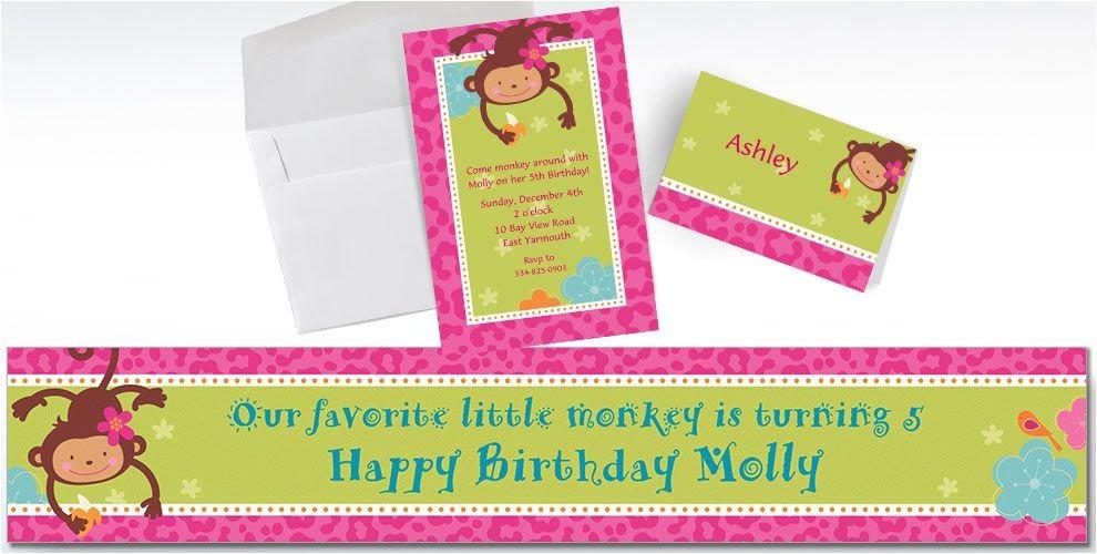 custom monkey love invitations do