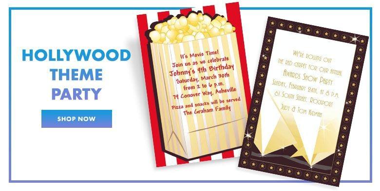 custom invitations theme party