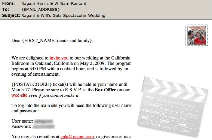 how to create email wedding invitations