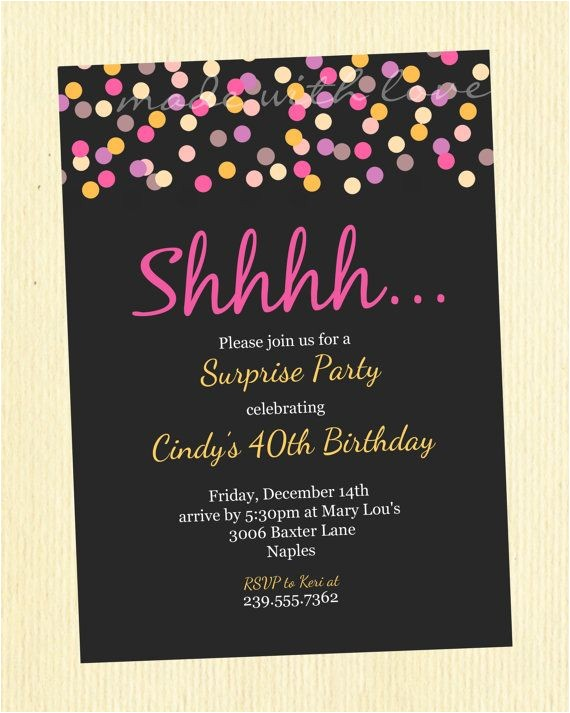 50th birthday party invitations ideas