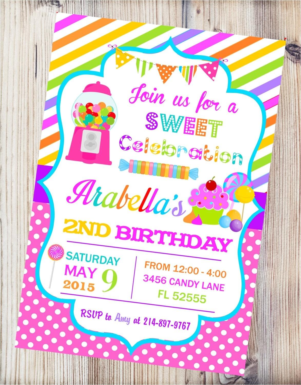 candyland printable invitationcandy shop