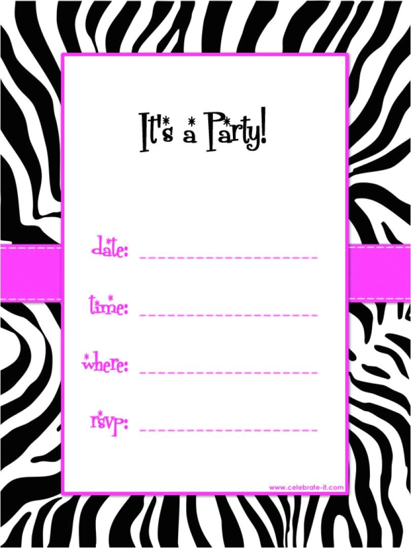 birthday invitations free printable template