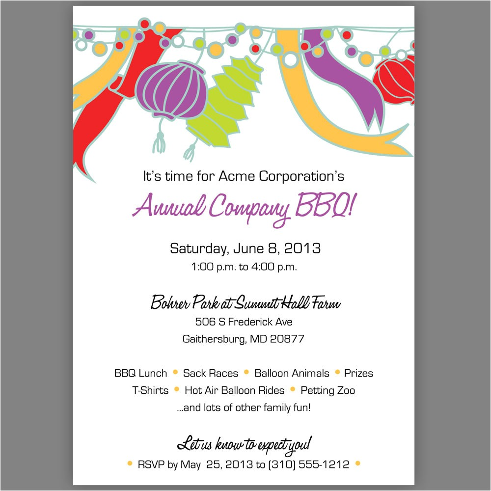party invite wording template