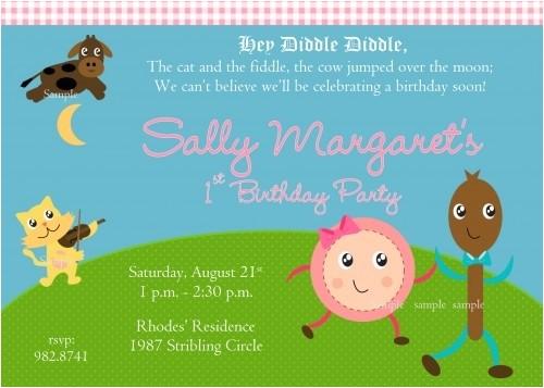 nursery rhyme birthday party
