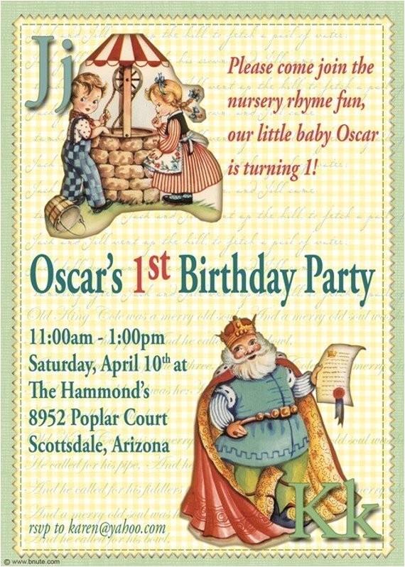 nursery rhyme birthday party digital